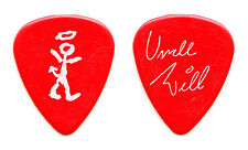 David Letterman Late Show Uncle Will Lee Signature Red Guitar Pick - 1989