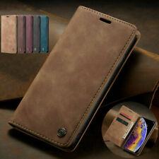 For iPhone 8 7Plus 6s X XS Max XR 5 Magnetic Leather Flip Card Pocket Case Cover