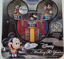 NIB PEZ Collectibles Disney Mickey Mouse 80 Years Collection in Decorative Tin