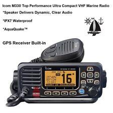 Icom M330 GPS Receiver Built-in VHF Marine Radio: Quality & Reliability Compact
