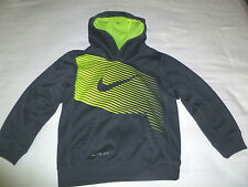 NIKE Therma Fit Gray/ Neon Yellow Sweatshirt Hoodie Kid's Size 6