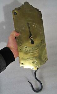 rarissime énorme peson ancien dynamométrique - balance - 0 à 30 kg - 1 à 9 kg