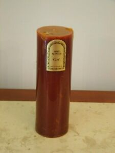 """NWT REDDISH  SPICE SCENTED 9"""" PILLAR CANDLE  9""""T-3""""W"""