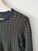 Princess Highway Houndstooth Knit Jumper Dress Green Blue {Size 10}