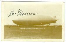 HUGO ECKENER SIGNED GRAF ZEPPELIN LAKEHURST,NJ, GERMAN ZEPP COMMANDER PHOTO CARD