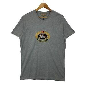 Burberry Gully Grey Archive Logo Short Sleeve Jersey Cotton T-shirt - Size XXL