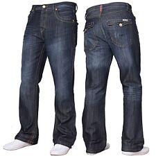 APT Mens A31/ A42 Button Fly Creased Boot Cut Jeans All Waist & Leg Sizes Dark Wash 44 R