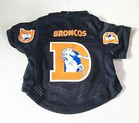 NEW DENVER BRONCOS PET DOG FOOTBALL JERSEY THROWBACK RETRO ALL SIZES