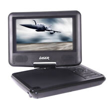 "LASER PORTABLE CAR KIDS DVD/CD PLAYER 7""/180 SWIVEL/REMOTE/CAR CHARGER/TV CONECT"