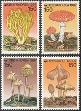 KOREA 1997 FUNGHI/mushroomsplants/NATURA SET 4 V (n41944)
