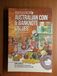 Renniks Australian Coin & Banknote Values Book 29th Edition  Never Used
