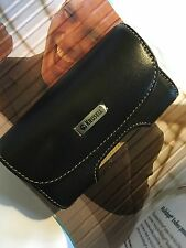 Krusell Apple iPhone 4 4s Universal Side-carry Leather Pouch & Belt Clip Black