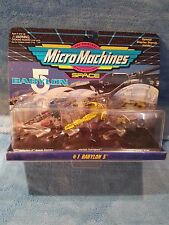 Micro Machines Babylon 5 #1 - B5 space station, Vorlon Transport, Green Ship