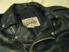 Heavy Leather Motorcycle Jacket Open Road Biker Classic Brando Perfecto Cafe XL