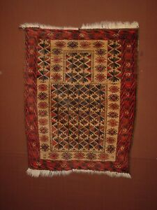 BEAUTIFUL ANTIQUE BALOEDS Afghan PRAYER RUG ****HG***