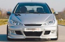 Front Pare-chocs avec nervures latérales Rieger Tuning Peugeot 206 + CC