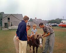 President John F. Kennedy watches JFK, Jr. ride a pony New 8x10 Photo