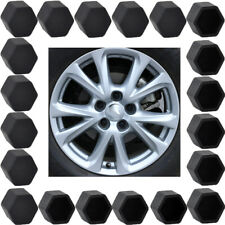 20xBlack Auto Car Wheel Nut Lug Dust Cover Cap Protector Tyre Bolt Hub Screw Cap