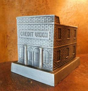 VINTAGE 1998 CAST METAL TOY BANK COMMEMORATIVE 25TH ANNIVERSARY CREDIT UNION