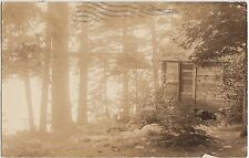 Maine Me Real Photo RPPC Postcard '51 BRIDGETON Christmas Tree Inn Highland Lake