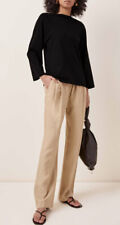Loulou Studio Takaroa Pleated Twill Pants Beige Small