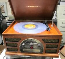 CROSLEY MODEL CR66  RECORD PLAYER, CD PLAYER, AM/FM CASSETTE SCHOOL SURPLUS GOOD