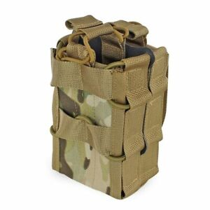 Molle Magazine Pouch Double Layer Airsoft Tactical AK 7.62 M4 5.56 Rifle Hunting