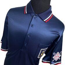 Mizuno Blue Umpire Central League Short Sleeve Baseball #20 Polo Shirt Mens XXL