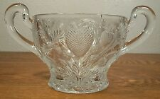 EAPG Near Cut Cambridge Strawberry Double Handle Bowl/Dish Cr; 1903