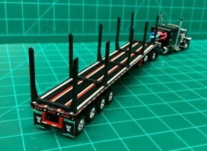 1/64 Logging and Pipe Plastic uprights for 53ft DCP PEM Flatbed Trailer