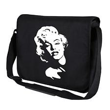 Marilyn Manroe Konterfei   Kult Ikone   Schwarz   Umhängetasche   Messenger Bag