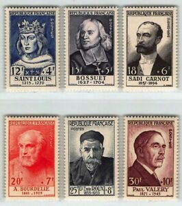 """FRANCE STAMP YVERT N° 989 / 994 """" CELEBRITES 6 TIMBRES """" NEUFS xx LUXE B744"""