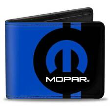 Men Wallet Bifold Jeep Dodge Mopar HEMI Logo Stripe Black Blue Genuine