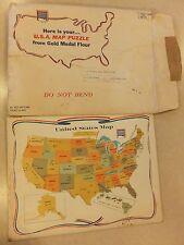 VTG GOLD MEDAL FLOUR DISCOVER AMERICA PUZZLE U.S.A. PUZZLE IN ORIGINAL ENVELOPE