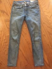 "Rag & Bone Skinny Jean Size 25 Length 25.5""  Light Distressed Wash"