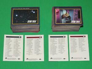 1991 Star Trek 25th anniversary SERIES 1 & 2 Impel complete 310 card set TNG TOS
