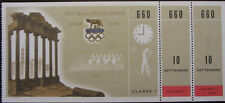 1960 ROME OLYMPIC GAMES TICKET FIRST CLASS SHOOTING TIRO ORIGINALE E COMPLETO