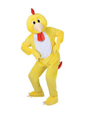 Cabeza grande Adulto Funky poco De Pollo Disfraz Mascota Disfraz Bn de animales de granja