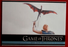 GAME OF THRONES - NOW HIS WATCH IS ENDED - Season 3, Card #12 - Rittenhouse 2014
