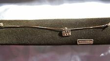 """Vintage 14K Yellow Gold 7.5"""" Bracelet With 10K GTE General Telephone Co Charm"""