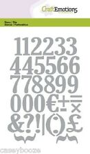 Craft Emotions Cutting Dies - Large Numbers & Symbols - 0503 - New Out