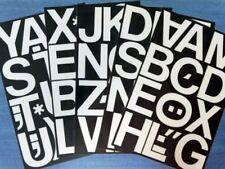 63 Blanco 3 pulgadas De Plástico Auto Adhesivo Vinilo Letras. letras Adhesivas Fácil Hágalo usted mismo