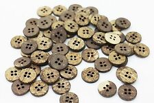 Coconut Button Brown Natural Four Holes Shirt Blouse DIY Thick Beads 14mm 20pcs