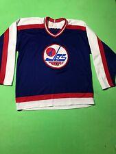VTG 80s Nwt Ccm Maska CCM Winnipeg Jets Stitched Authentic Hockey Jersey Mens L