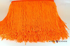 "1 yard 6"" Orange Chainette Fringe Latin Dance Costume Trim"
