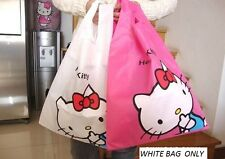 HELLO KITTY REUSABLE SHOPPING GROCERY BAG TOTE WHITE COLOR ONLY NYLON SANRIO