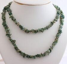 Natural ÁGATA DE MOHO Cadena minerales (90 cm,PINZAS COLLAR,gris,joya,collar)