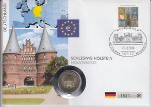 Le Timbre Numismatique Allemagne Schleswig - Holstein Holstentor 2006