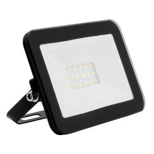 10w Ultraslim LED Floodlight, Black Metal Body 4000k Natural White IP65 Outdoor