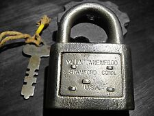Antique Yale Lock Yale and Towne Padlock Steele Lock with Key Dog
